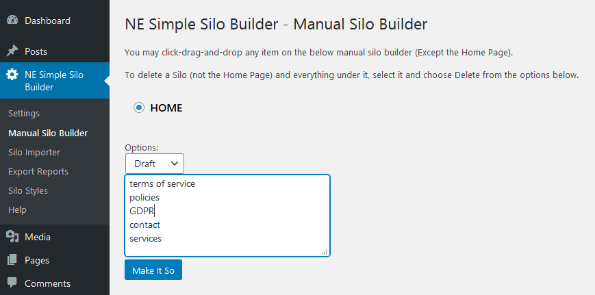 Wp Simple Silo Wbsite Builder